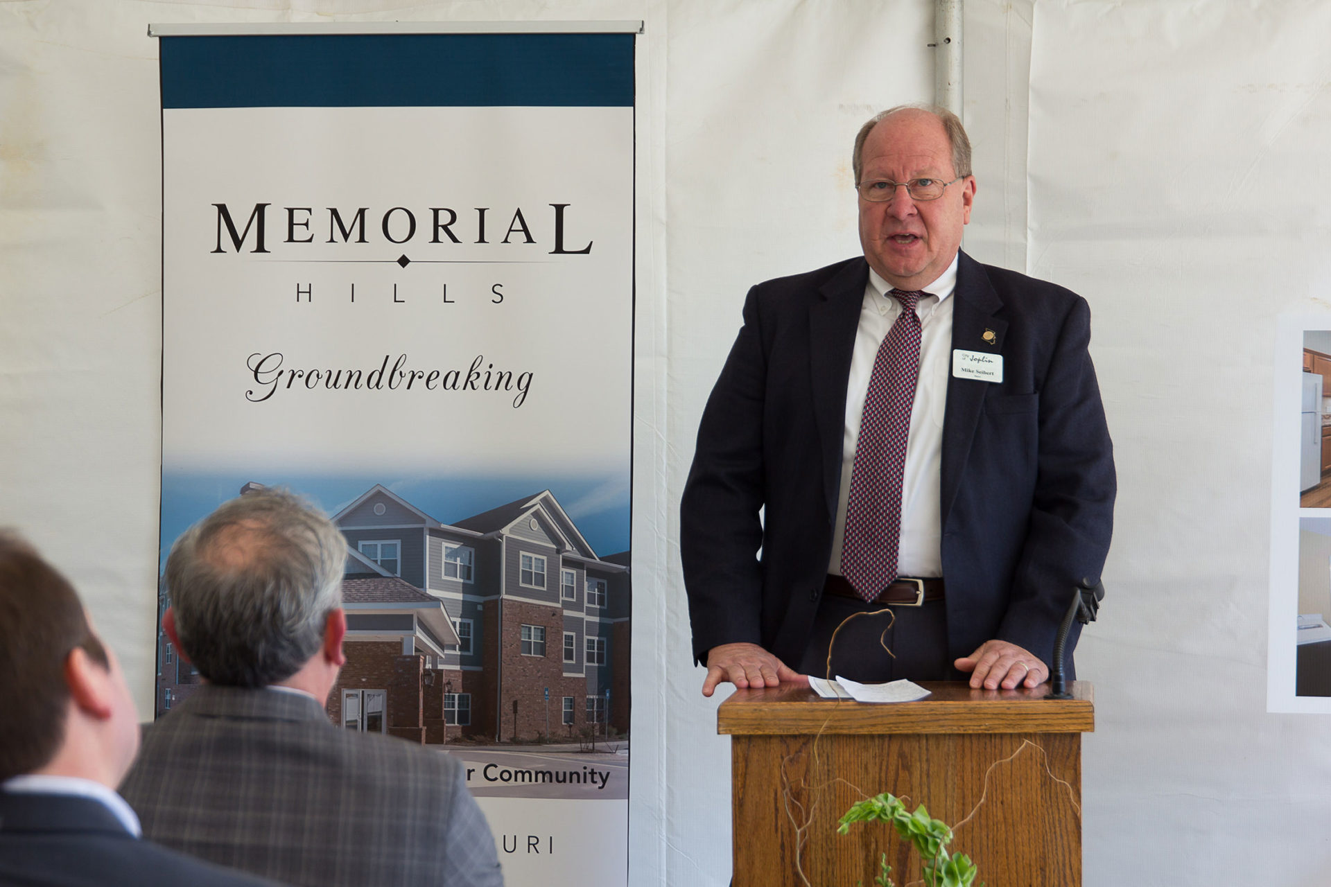 More Than 50 Community Members Attended The Memorial Hills Groundbreaking, Which Included A Brief Program With Remarks By Kevin Parker, President Of Parker Development, Fred Osborn, President Of Joplin Re-Development Corporation, Lane Roberts, Former Chief Police Of Joplin Police Department, And Robert O'Brian, President Of The Joplin Area Chamber Of Commerce.