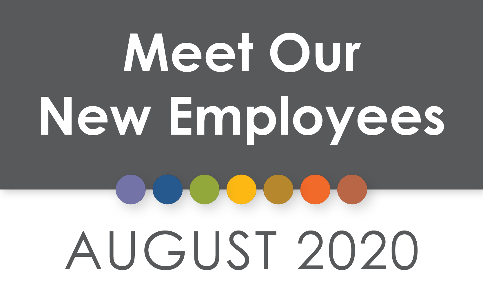 August 2020 New Employees